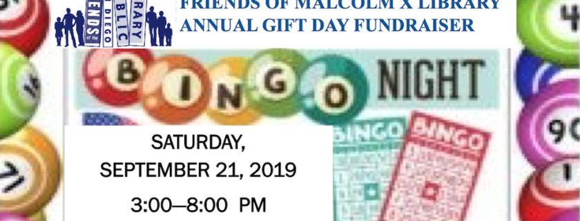 Friends of The Malcolm X Library Bingo Fundraiser