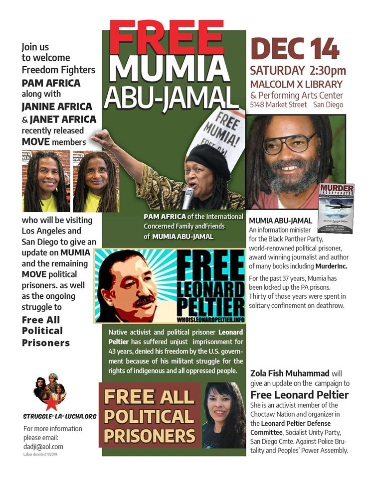 Free the Move 9 & All Political Prisoners 2 Forums: San Diego